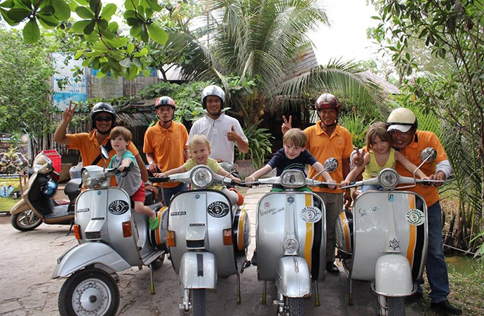 Mekong Delta by Old Vespa 1 Day